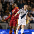 Robbie Keane and Jamison Olave in action during the Major League Soccer game — Stock Photo #16989931