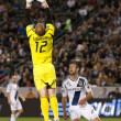 Josh Saunders in action during the Major League Soccer game  — Stock Photo