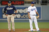 YORVIT TORREALBA and RAFAEL FURCAL during the game — Stock Photo