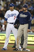 JAMES LONEY and ADRIAN GONZALEZ during the game — Stock Photo