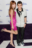 ADAM IRIGOYEN & BELLA THORNE arrive at the Justin Bieber: Never Say Never premiere — Stock Photo