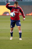 Alejandro Moreno warms up before the Major League Soccer game — Stock Photo