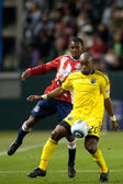 Emilio Renteria and Michael Lahoud in action during the game — Stock Photo