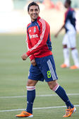 Mariano Trujillo warms up before the Major League Soccer game — Stock Photo