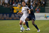Chad Barrett and Kei Kamara in action during the game — Stock Photo