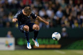 Michael Harrington in action during the Major League Soccer game — Stock Photo