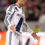 David Beckham during the Major League Soccer game — Stock Photo