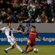Andon Donovan and Tony Beltran in action during the Major League Soccer game — Stock Photo