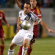 Landon Donovan and Ned Grabavoy in action during the Major League Soccer game — Stock Photo
