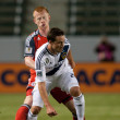 Stock Photo: Todd Dunivant and Richard Eckersley fight for ball during game