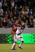 Edson Buddle and Chris Schuler in action during the Major League Soccer game — Stock Photo