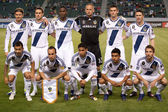 The Galaxy starting 11 before the CONCACAF Champions League game — Stock Photo