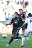 Dwayne De Rosario in action during the Major League Soccer game — Stock Photo