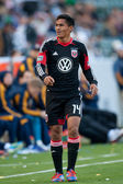 Andy Najar during the Major League Soccer game — Stock Photo
