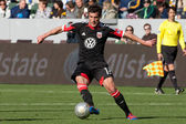 Chris Pontius in action during the game — Stock Photo