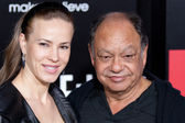 Cheech Marin and guest arrive at Columbia Pictures premiere — Stock Photo