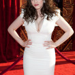 Kat Dennings arrives at the Los Angeles premiere — Stock Photo
