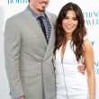 Steve Howey & actress Sarah Shahi arrive at the Los Angeles premiere - Stok fotoğraf