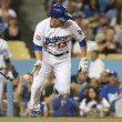 RYAN THERIOT lays down a RBI bunt during the game — Stock Photo #18457713