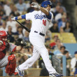 Stock Photo: ANDRE ETHIER struggles against Reds and is struck out during game