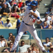ANDRE ETHIER takes a swing during the game — Stock Photo