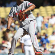 Stock Photo: FRANCISCO CORDERO pitches during game