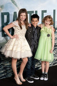 Adin Gould, Bryce Cass and Joey King arrive at Columbia Pictures premiere — Stock Photo