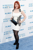 Kate Flannery arrives at the Los Angeles premiere — Stock Photo