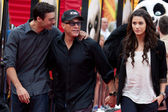 Jean Claude van Damme and family arrive at the Los Angeles premiere — Stock Photo