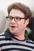 Seth Rogen arrives at the Los Angeles premiere of Kung Fu Panda 2 — Stock Photo