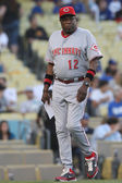 DUSTY BAKER walks back to the dugout before the start of the game — Stock Photo