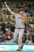 SCOTT ROLEN throws to first during the game — Stock Photo
