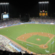 A view of Dodger Stadium during the Angels vs. Dodgers match - Stock Photo