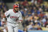 Erick Aybar in action during the match — Foto Stock