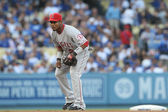 Erick Aybar pays attention during the game — Fotografia Stock