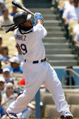 Manny Ramirez in action during the game — Stock Photo