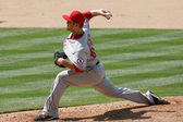 Kevin Jepsen pitches during the game — Stock Photo