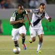 Stock Photo: Darlington Nagbe and Juninho during Major League Soccer game