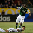 Diego Chara and Juninho during the Major League Soccer game — Stock fotografie #18765389