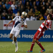 Sean Franklin and  Blas Perez during the Major League Soccer game - Stock Photo