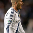 David Beckham during the Major League Soccer game — Stock Photo