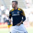 Stock Photo: David Beckham warms up before MLS game