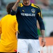 David Beckham warms up before the MLS game — Stock Photo #18765915