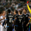 The Galaxy go down to 10 men after a red card was given during the Major League Soccer game — Stock Photo #18766185
