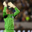 Stock Photo: Jon Busch celebrates goal from his side during Major League Soccer game
