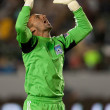 Jon Busch  celebrates a goal from his side during the Major League Soccer game - Stock Photo