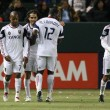 FabiEspindolgets congradulated after scoring 89th minute goal by Real Salt Lake — Stock Photo #18767923