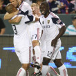 Real Salt Lake celebrate a goal by Chris Wingert during the 46th minute of the game — Stock Photo