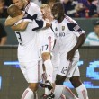 Real Salt Lake celebrate goal by Chris Wingert during 46th minute of game — Stock Photo #18768357