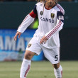 Kyle Beckerman controls and passes the ball during the game - Stock Photo